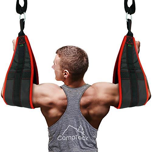 MXian Bauchgurt zum Aufhängen für Fitness, zum Aufhängen von Bauchmuskeln mit Schnellverschlüssen, Fitness, OLGN5115ML526MX135X7HE3X, rot / schwarz