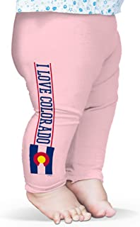 Twisted Envy Baby Pants I Love Colorado State Flag Baby and Toddler Girls Leggings