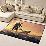 The Mandalorian Baby Yoda Area Rug Carpet,Large Floor Mat Play Rug Carpet Doormats for Living Dining Playing Room Modern Rug 63'' X 48