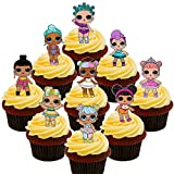 Made4You LOL-Surprise-Puppen-Party-Pack, essbare Kuchendekorationen – Stehende Cupcake-Topper aus Esspapier