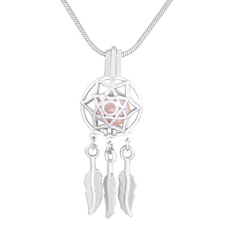 Indian Style Silver Dream Catcher Cage Pendants Dreamcatcher Beads Pearl Cage Pendant Essential Locket For Necklace 10pcs/lot
