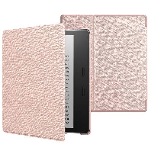 MoKo Funda Compatible con All-New Kindle Oasis (9th and 10th Generación Solo, 2017 and 2019 Release) - Ultra Delgada Ligera Smart-Shell Soporte Cover Case - Oro Rosa