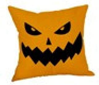 GREFER Halloween Decorations Pillow Cases Pillowcases Linen Sofa Pumpkin Ghosts Cushion Cover Home Decor (Colorful-A)