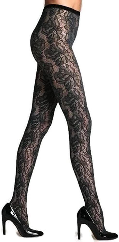 Hue Two Tone Floral Net Tights (13114)