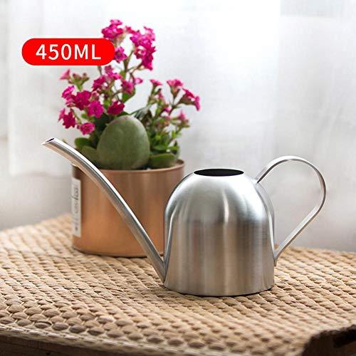 Modernen Stil Wasserkanister aus Edelstahl für Zimmerpflanzen Am besten für Hause und Büro,Langer Mund Runde Beregnungstopf