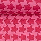 Beschichtete Baumwolle Farbenmix Staaars rosa/Erika   26,30