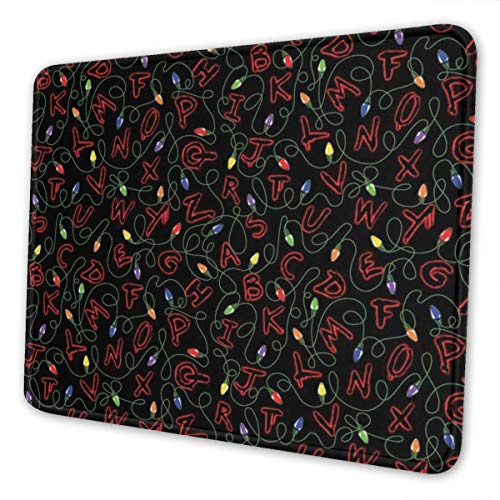 Mouse Pad Stranger Things Gaming Mousepad with Stitched Edges Non-Slip Rubber Base for Computers Laptop Office & Home