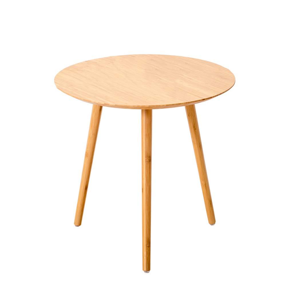 Tavoline Salotto Moderno Rovere GOLDFAN Tavoline da Caff/è in Legno Massello Set di 2 Tavoline Sovrapponibili Triangolari per Soggioro