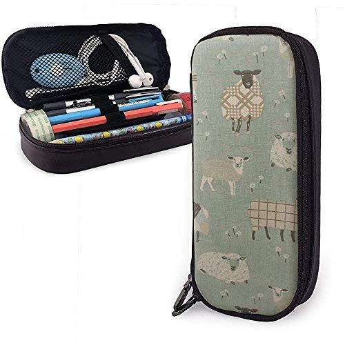 Retro Schaf Malerei große Kapazität Lagerung Marker Fall Stifthalter, kosmetische Make-up Tasche, Briefpapier Veranstalter Bleistiftbeutel
