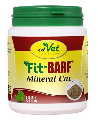 cdVet Naturprodukte Fit-BARF Mineral Cat 150 g - Katze - Grundversorgung mit Mineral- und Vitalstoffen - Vitamine - Muskelaufbau - Blutbildung  - Magen-Darm Regulation - Rohfütterung - BARFEN -