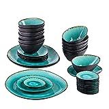 CCAN Juegos de vajilla Juego de vajilla de cerámica Vintage de...