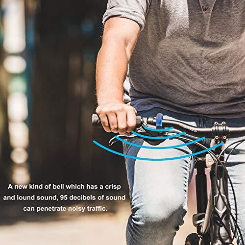 Sportout Aluminiumlegierung Innovative Fahrradklingel Fahrrad Ring mit Lauten Klaren Klaren Kla, für Lenker von 22,2 bis 31,8 mm(Black) - 6