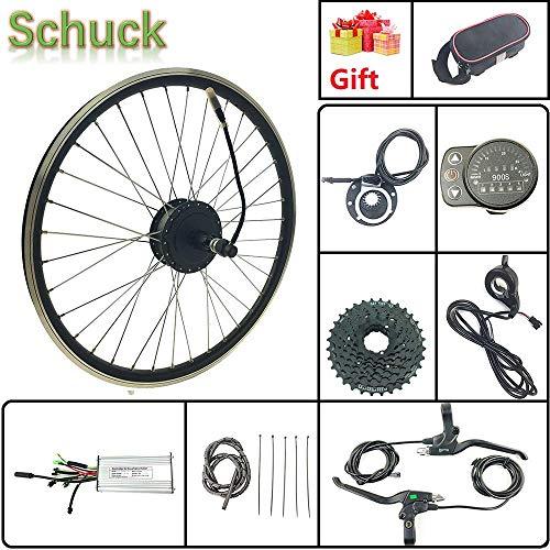 """Schuck Kit de conversión de Bicicleta eléctrica 27.5""""Rueda con Pantalla LED900S 36V 500W Bicicleta eléctrica Rueda Trasera Cassette hub radios Motor y llanta"""