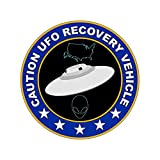fagraphix UFO Recovery Vehicle Sticker Decal Vinyl Alien Flying Saucer FA Vinyl - 4.00 Wide