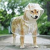 WELLXUNK Chubasquero para Perros,Chubasquero para Perros con Capucha,Impermeable Perros,Mascotas Impermeables,Poncho Impermeable Perros,Chubasquero para Perros Pequeños,Medianos y Grandes (M, Blanco)