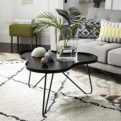 Safavieh Home Lenna Black Hairpin Leg Coffee Table