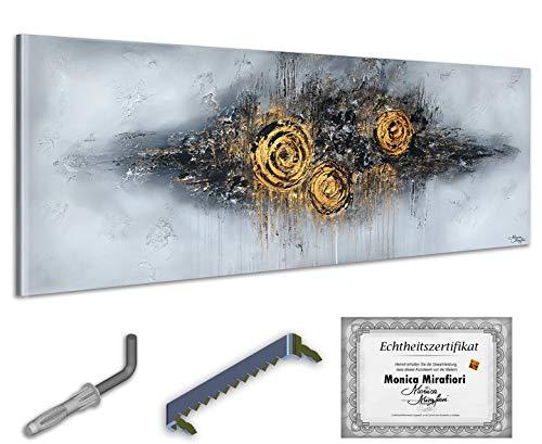 exclusive-gallery I Monica Mirafiori I Gemälde Structure I 160x60cm | XXL Leinwandbild handgemalt | Acrylgemälde auf Leinwand | Sehr großes Acrylbild auf Keilrahmen