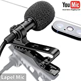 Lavalier microphone gives CLEAR SOUND in comparison with built-in android / iphone microphone. Increase the distance between iphone and vlogger, reduce the noise of recording Microphone for iphone is PLUG&PLAY no drivers, batteries needed to record g...
