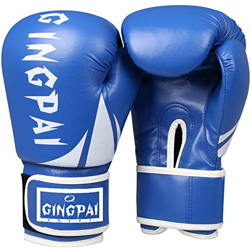 YWRD Kickboxen Handschuh Boxhandschuhe Kinder Thai Boxhandschuhe Trainingsboxhandschuhe Junior Boxhandschuhe Damen Boxhandschuhe Blue,8oz