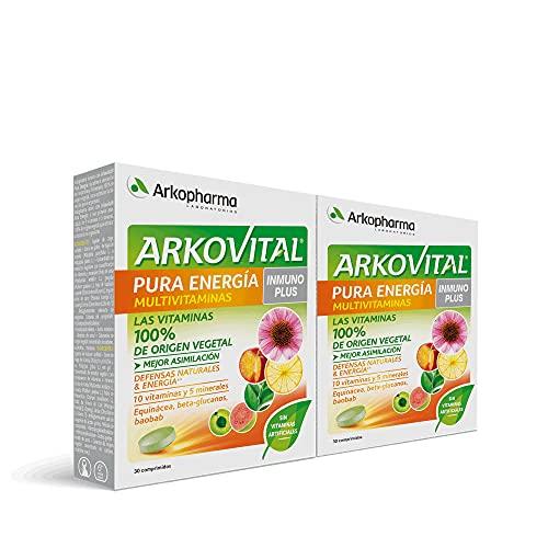 Arkopharma Arkovital Inmunoplus Pack 60 Comprimidos | Multivitamínico Refuerza el Sistema Inmune | Resfriados Recurrentes | Vitaminas Naturales