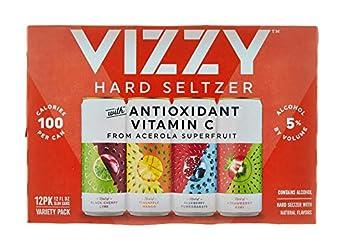 Vizzy Hard Seltzer Variety Pack, Gluten Free, Seltzer 12 Pack, 12 FL OZ Slim Cans, 5% ABV