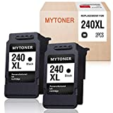 MYTONER Remanufactured Ink Cartridge Replacement for Canon PG-240XL 240 XL for Pixma MG3620 MX472 MX452 MG3220 MG3520 MG2220 MX532 MX392 MX432 MX512 (Black, 2-Pack)