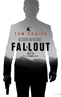 MISSION IMPOSSIBLE FALLOUT MOVIE POSTER 2 Sided ORIGINAL Advance 27x40 TOM CRUISE