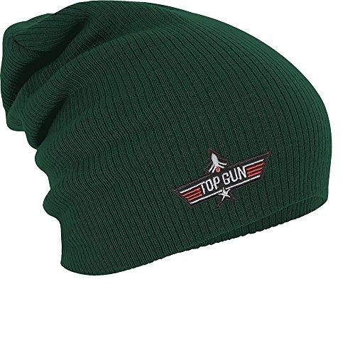 Fan-O-Menal Textilien Longbeanie Slouch-Beanie Mütze Top Gun 55170 Farbe grün
