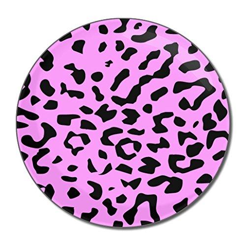 Pink Leopard Print - Miroir compact rond de 55 mm