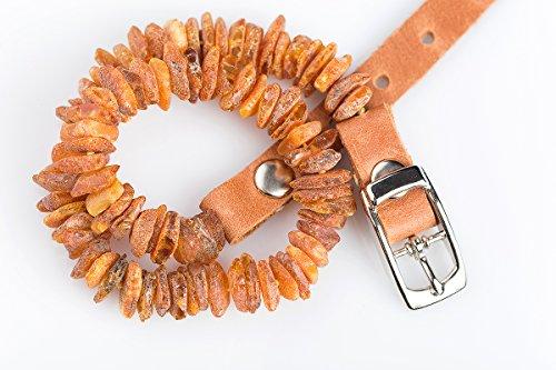 Bernsteinkette für Hunde und Katzen mit Lederschließe, natürliches flohzeckenabwehrmittel. Bernsteinhalsband von AmberNeck