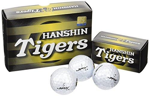 MIZUNO(ミズノ) ゴルフボール(6個入り) 阪神タイガース 1GJRAT01006P ロゴプリント 6P