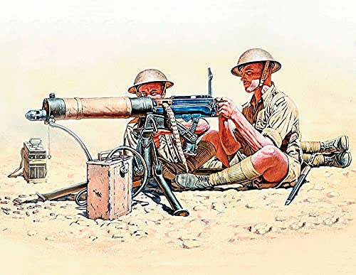 1/35 Vickers machine gun team North Africa and English-German soldier 5 body MB3597 (japan import)