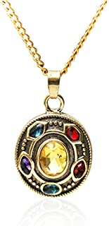 AceCraft Thanos Infinity Gauntlet Necklace Marvel Jewelry Toys Gifts for Boy/Girl/Son/Daughter