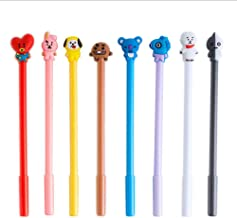 8 PCS Cartoon Animal BTS Pen Neutral Pens Kids Stationery Gifts for School Office Writing Supplies