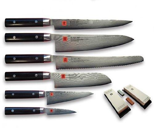 Kasumi Damastmesser von Sumikama - Messerset 8 tlg. K