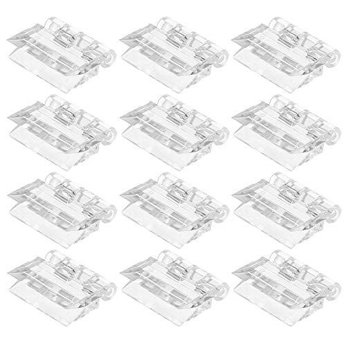 12 Piezas Miniatura Bisagra de Plástico Acrílico Transparente Plegable Bisagra Adecuada para Piano, Puerta, Armario / 25 mm x 33 mm