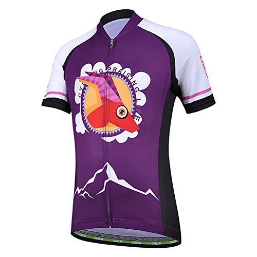 Amur Leopard Maillot de Cilismo para Niños y Niñas Camiseta Ciclismo de...