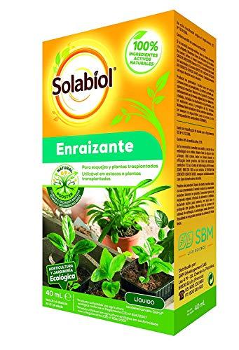 Solabiol – Fertilizzante Liquido 100% Organico per talee e Piante trapiantate, Formato 40 ml
