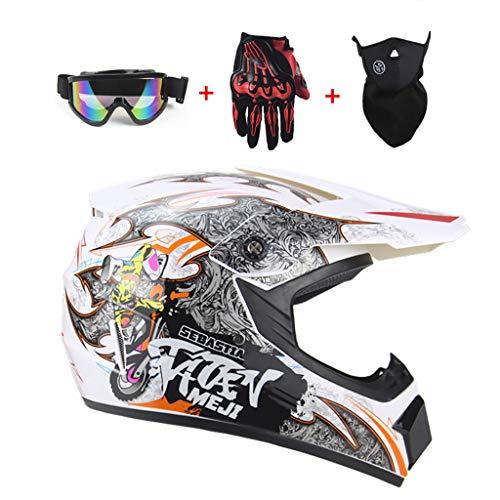 CHAOYUE Motocross Helmet ATV Off-Road Motorcycle BMX MX Downhill Cross Country Mountain Bike Mountain Bike Helmet Adult, DOT Certification (52-60CM)