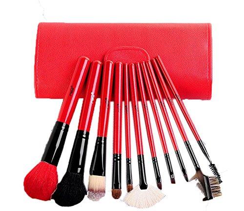 Ensemble de 11 professionnel pinceau maquillage, rouge