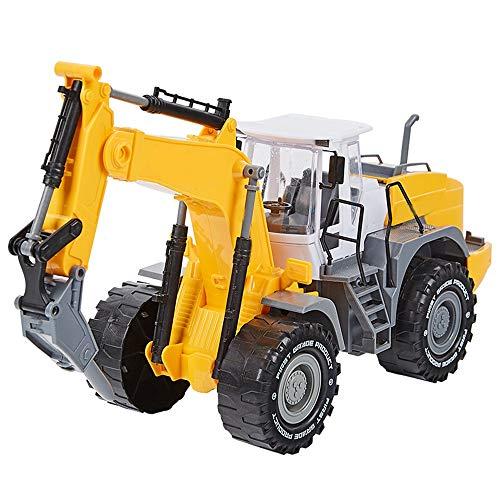N\A ZGGYA Toy Technik Wagen-Set for Kinder Groß Modell Fall Widerstand Inertial Pullback Roller Bulldozer Bagger Spielzeug Erdbohrer
