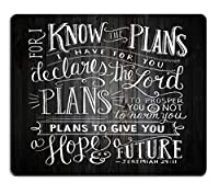 Smooffly Gaming Mouse Pad Custom,Vintage Bible Verse Scripture Quotes Psalms Sayings on Deadwood,Non-Slip Thick Rubber Large Mousepad [並行輸入品]