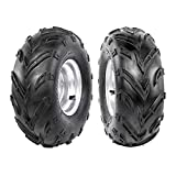 Fuerduo 2PCS 16x8-7 Front Tubeless Wheel Tire with 7' Rim for ATV Quad Bike Buggy Ride on Mowers