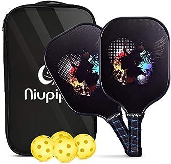 2-Set Niupipo Pickleball Racquet & Paddles Set