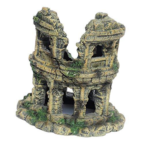 dailymall Artificial Tank House Roman Coliseum Model Ornaments Resin Handicraft