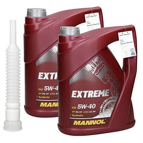 Mannol 2 x 5 Litri Extreme Olio 5 W40 per Auto