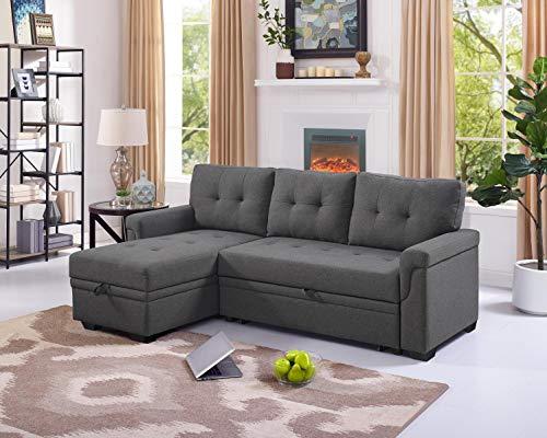 Oadeer Home, us_furniture, OADEF Sofa & Chaise, Steel Gray