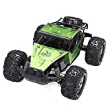 Daily Equipment 1:12 30Km/h RC Remote Control Off Road Cars Vehicle 2.4Ghz Crawlers Electric Monster RC Car Toy Alloy High-speed Drift Off-road Car for Children Gift (Color : Green Size : 1battery