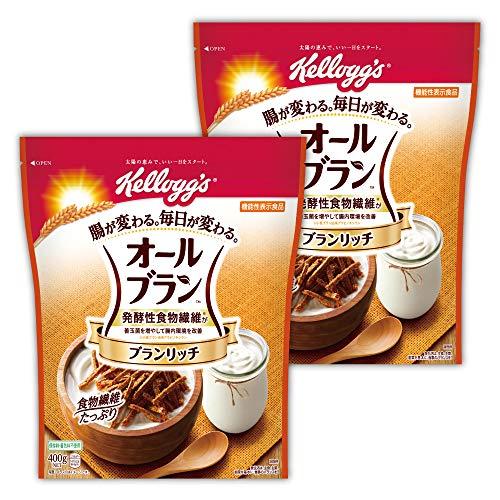 【Amazon.co.jp限定】 ケロッグ オールブラン ブランリッチ 徳用 400gx2個セット 機能性表示食品