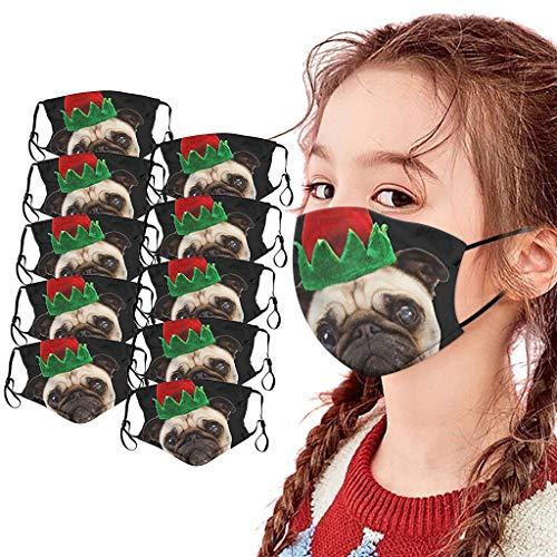 SHUANGA Weihnachten Mundschutz Face Cover Multifunktionstuch Schule Winddicht Atmungsaktiv Mundschutz Halstuch Schön Atmungsaktiv Sommerschal